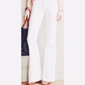 Laundry By Shelli Segal Hallie White Flare Pants